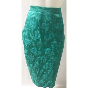 Green Vintage Pencil Skirt Size 10T